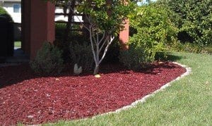 Mulch substitute made from recycled tires