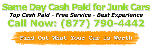 We pay top dollar in cash For Junk Cars old and wrecked